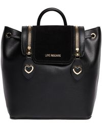 Love Moschino - Love Zipper Pu Leather Backpack - Lyst