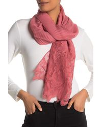 Valentino Plisse Cashmere Blend Lace Shawl - Multicolor