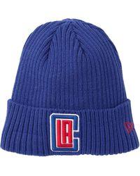 KTZ Nba La Clippers Fleece Lined Ribbed Knit Beanie - Blue