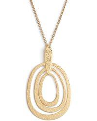 Argento Vivo - Long Pendant Necklace - Lyst