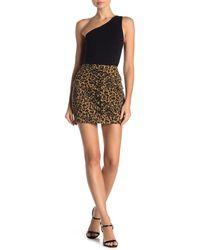 Jealous Tomato Leopard Print Lace-up Mini Skirt - Brown