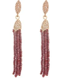 Vince Camuto - Seed Beaded Tassel Earrings - Lyst
