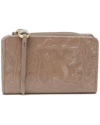 Hobo International Dart Small Embossed Leather Wallet - Multicolour