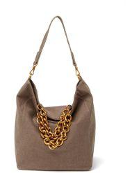 Deux Lux Roma Chain Shoulder Bag - Brown