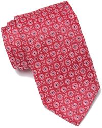 Eton of Sweden Medallion Tie - Red