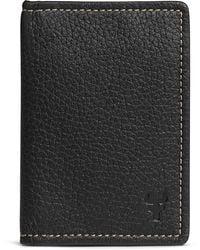 Trask Jackson Folding Leather Card Case - Black