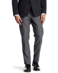"""Bonobos - Foundation Grey Tweed Trim Fit Double-pleated Cotton Trouser - 30-32"""" Inseam - Lyst"""