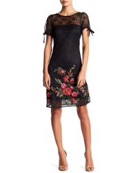 Betsey Johnson - Floral Embroidered Lace Dress - Lyst