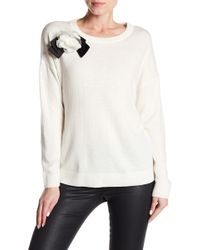 Kate Spade - Rosette Bow Sweater - Lyst