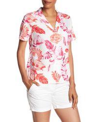 Tommy Bahama - Florals Falling Short Sleeve Linen Blend Camp Shirt - Lyst
