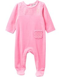 Juicy Couture - Diamond Quilted Velour Footie (baby Girls) - Lyst