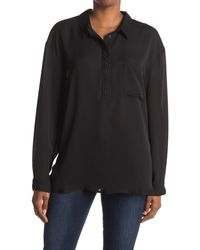 Laundry by Shelli Segal Patch Pocket Tunic Top - Black