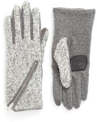 Echo - 'touch - Zip Boucle' Tech Gloves - Lyst