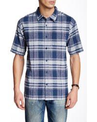 Jack O'neill - Blue Water Plaid Short Sleeve Regular Fit Shirt - Lyst