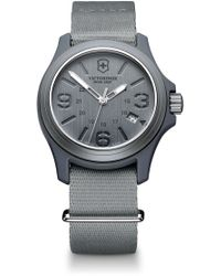 Victorinox Original Nylon Strap Watch, 40mm - Gray