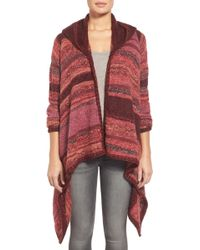 Curio - Space Dyed Hooded Cardigan - Lyst