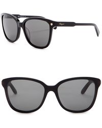 Ferragamo - Retro 56mm Acetate Frame Sunglasses - Lyst