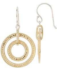 Anna Beck - 18k Gold Plated Sterling Silver Open Double Circle Earrings - Lyst