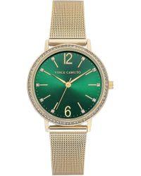 Vince Camuto Women's Green Mesh Bracelet Watch, 34mm