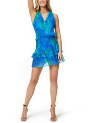 Ramy Brook Printed Kimmy Dress - Blue