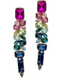 Jardin - Ombre Multi-cut Glass Stone Statement Earrings - Lyst
