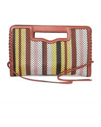 Rebecca Minkoff - Handheld Striped Woven Leather Clutch - Lyst