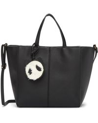 T-Shirt & Jeans - Tote Bag With Plush Panda - Lyst