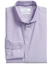 Calibrate - Extra Trim Fit Stretch No-iron Dress Shirt - Lyst