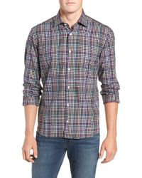 Culturata - Tailored Fit Check Sport Shirt - Lyst