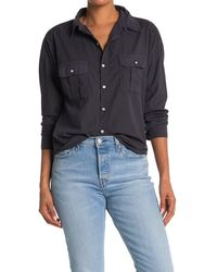 Bliss and Mischief Johnna Long Sleeve Pocket Button Up - Gray