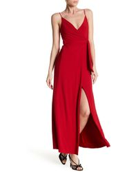 Analili - Front Slit Solid Dress - Lyst