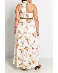 ModCloth Halter Neck Maxi Dress - White