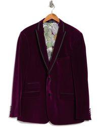 Paisley and Gray Gros Peak Tux Jacket - Purple