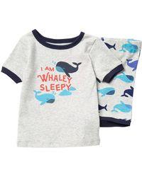 Joe Fresh Whaley Sleepy Pyjama Set (baby Boys) - Gray