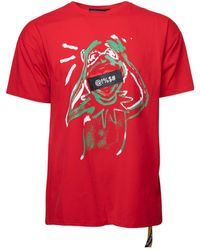 Xray Jeans Kermit The Frog Bleep Relaxed Fit Graphic T-shirt - Red
