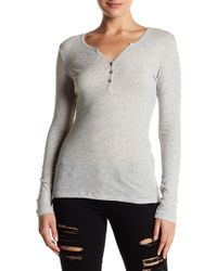 Slate & Stone - Jane Long Sleeve Henley - Lyst