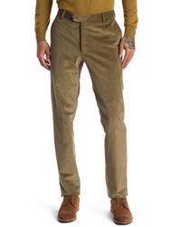 Hickey Freeman Cotton Blend Modern Fit Pants - Natural