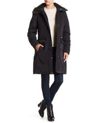 Andrew Marc - Warby Faux Fur Trim Parka - Lyst