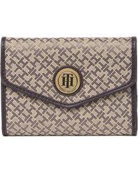 Tommy Hilfiger - Mini Envelope Wallet In Tan/dk Chocolat At Nordstrom Rack - Lyst
