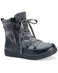 Muk Luks - Shayla Lace-up Faux Fur Lined Boot - Lyst