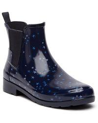 HUNTER - Refined Waterproof Constellation Print Chelsea Boot - Lyst