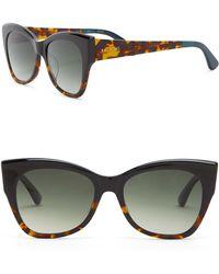 TOMS - Women's 54mm Autry Black Tortoise Sunglasses - Lyst