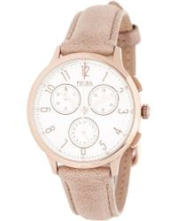 Fossil - Women's Abilene Chronograph Leather Strap Watch, 34mm - Lyst