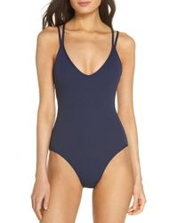 5c85d640628 Lyst - L*Space L* Ridin' High Ribbed Dakota One-piece (midnight Blue ...