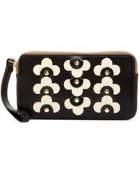 Orla Kiely - Large Leather Zip Pouch - Lyst