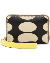 Orla Kiely - Leather Mini Zip Oval Printed Coin Purse - Lyst