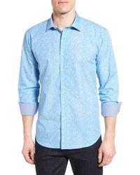 Bugatchi - Shaped Fit Sport Shirt - Lyst