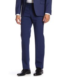 """Tommy Hilfiger Flat Front Tyler Stretch Suit Separates Pants - 30-34"""" Inseam - Blue"""