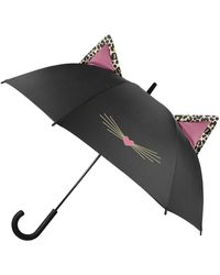 Shedrain Rainessential Auto Open & Close Floral Print Umbrella - Black