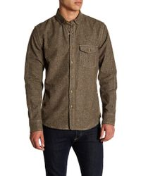 Jeremiah - Utah Nep Heather Flannel Shirt - Lyst